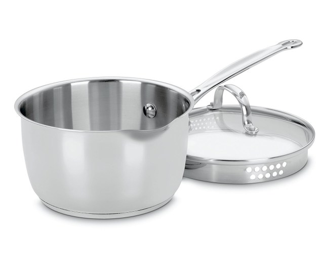 9. Cuisinart 719-18P Chef's Classic Stainless 2-Quart Saucepan with Cover