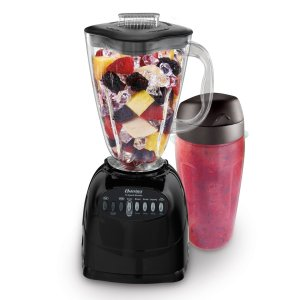 10. Oster Simple Blend 100 10-Speed Blender with Blend and Go Cup, Black