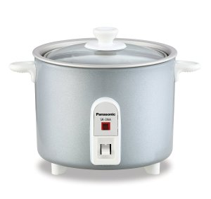 3. Panasonic SR-G06FGL 3-Cup, 1-Step Automatic Rice Cooker, Silver