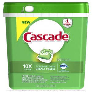 4. Cascade ActionPacs Dishwasher Detergent, Fresh Scent, 105 count