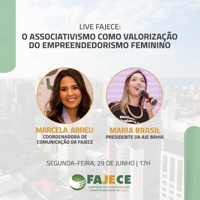 Fajece promove live sobre empreendedorismo feminino e associativismo