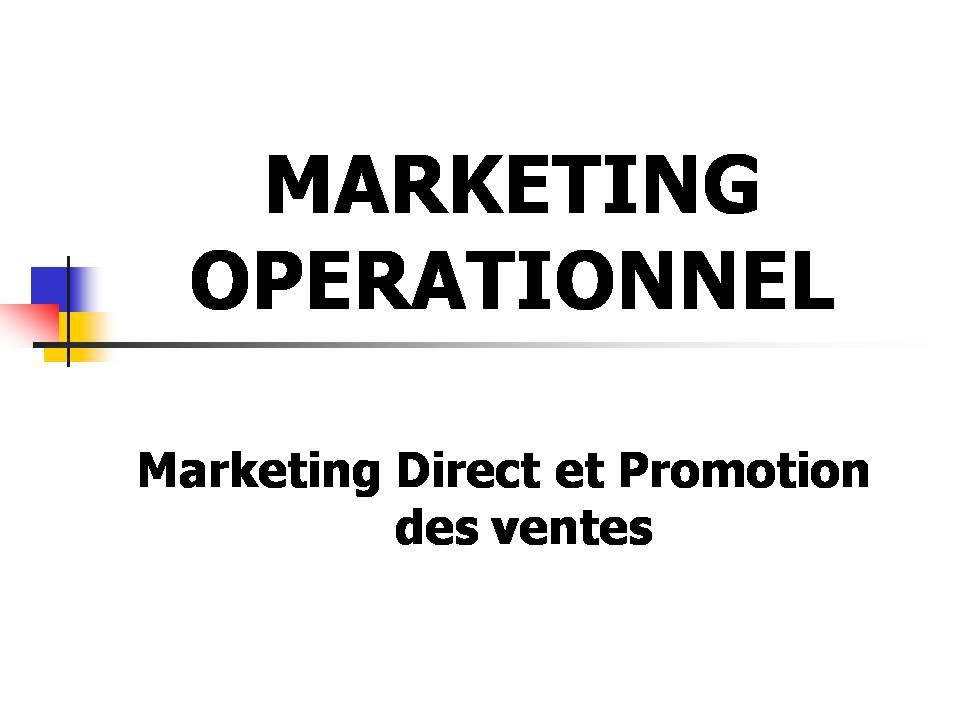 Marketing Direct et Promotion des ventes [ PPT] • Economie