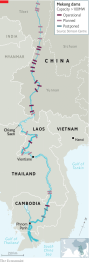 The Shrinking Mekong South East Asia S Biggest River Is Drying Up Asia The Economist