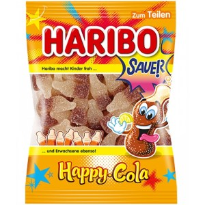 German Haribo Sauer Happy-Cola (Sour Cola Gummies)