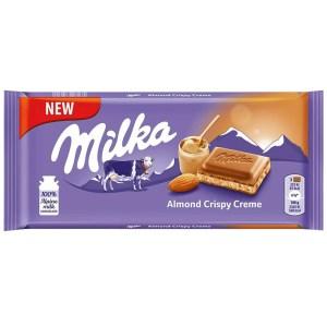 Milka Almond Crispy Creme - 90g Bar