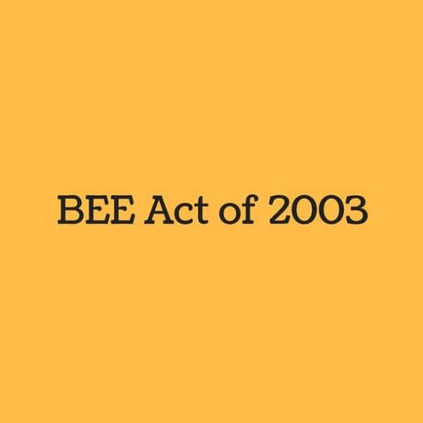 bee act of 2003