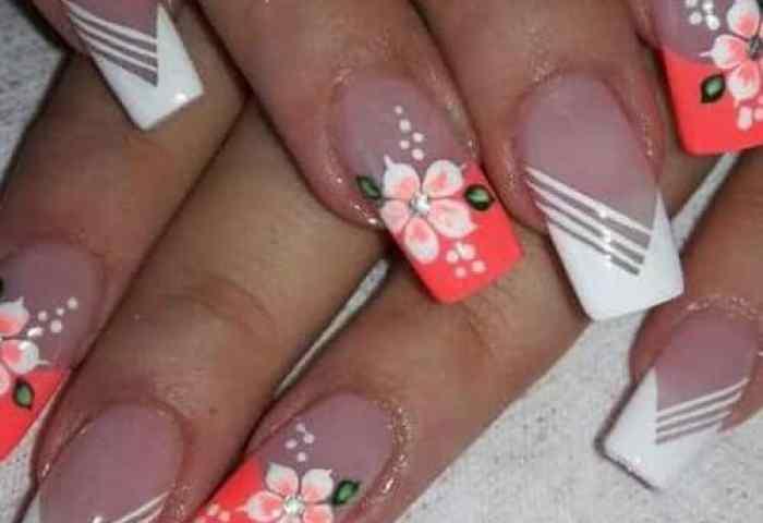 78 Modelos De Uñas Decoradas Con Flores E Consejos