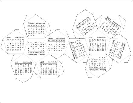 Print 2012 Calendar : Single Page (Annual) : Ask the