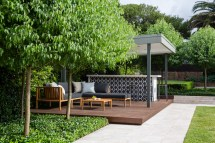 Stone Paving Timber Decking - Eco Outdoor