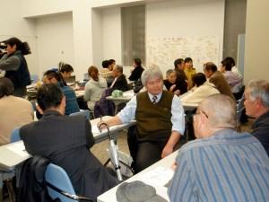 会の後半は、グループに分かれて意見交換をした後、全体で議論をした。