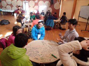 ワークショップでのグループ討論