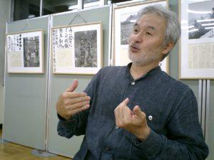 飾らない人柄でざっくばらんに語る写真家、中竹孝行さん。