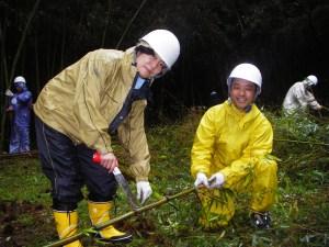 ほとんどの人が竹林整備は初めてでしたが、とても楽しんでいました。