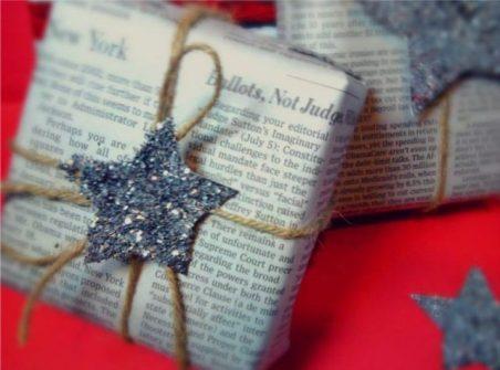 papel, regalos, Navidad, reciclado