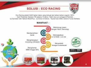 produk eco racing di Supiori