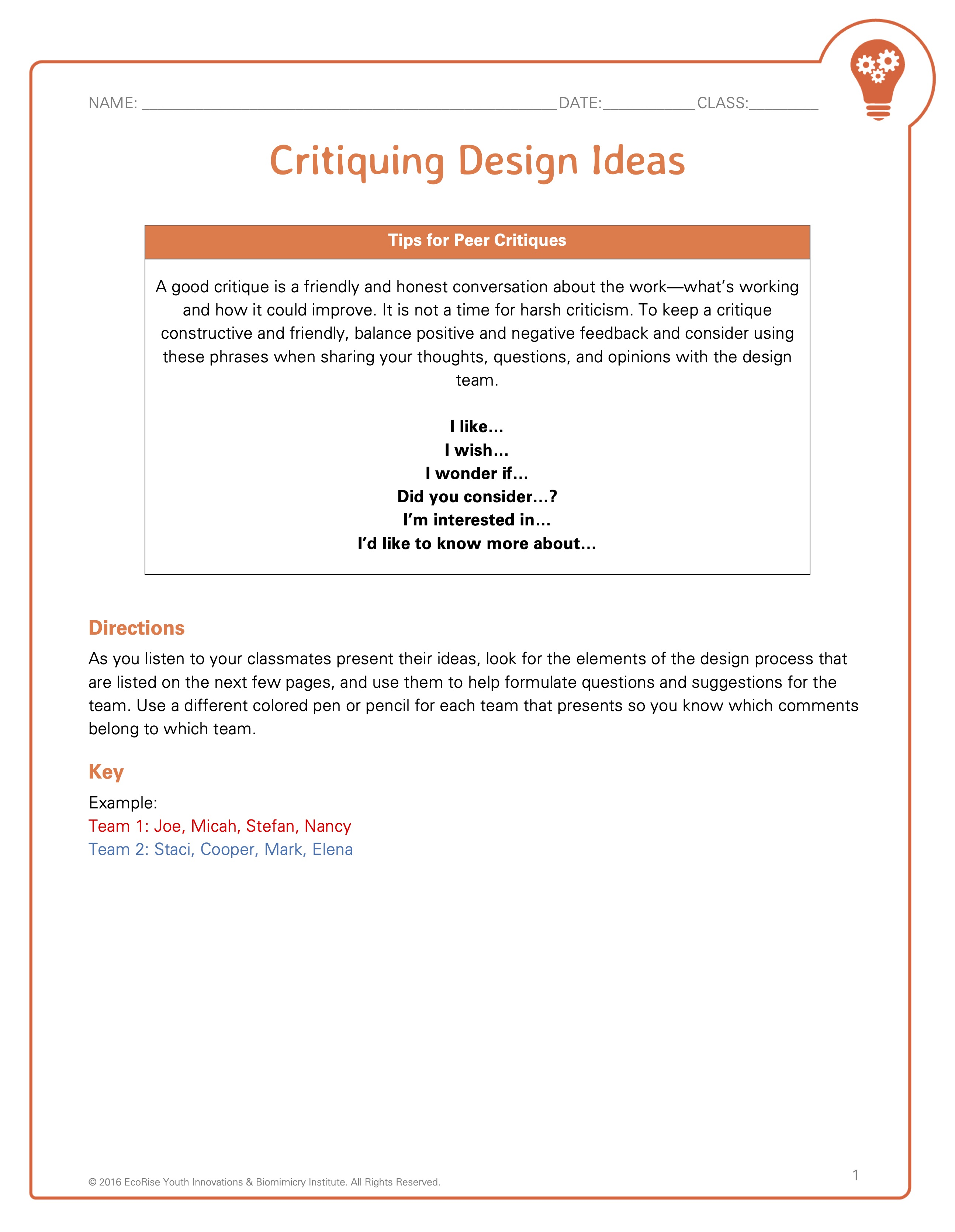 Biomimicry And Science Design Challenge