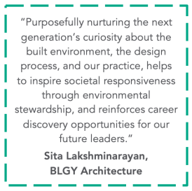 Quote from Sita Lakshminarayan of BLGY Architecture