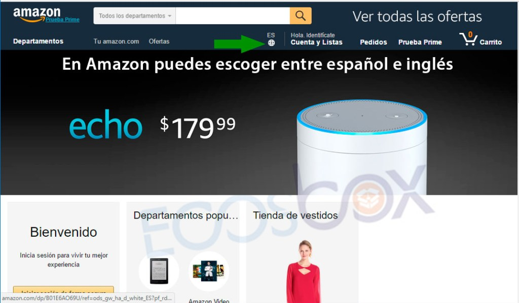 amazon seleccionar idioma