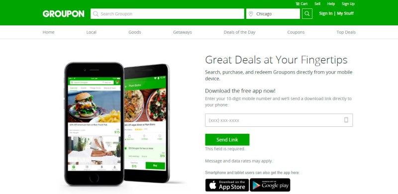groupon - Apps para obtener descuentos