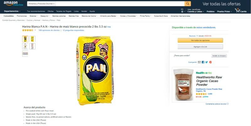 Cuánto cuesta enviar harina PAN a Venezuela