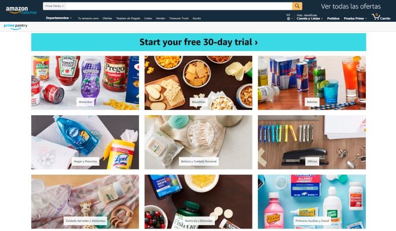 Amazon Pantry Prime te ofrece 30 días de prueba