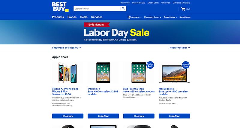 Ofertas de Labor Day en Bestbuy