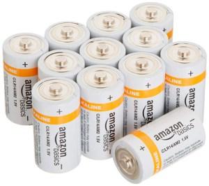 Baterías alcalinas AmazonBasics tipo C, paquete de 12 pilas