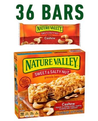 Barras de granola Nature Valley 6 Bars - 1.2 oz (Paquete de 6)
