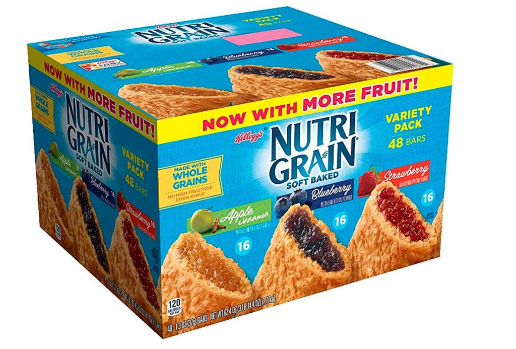 Kellogg's Nutri-Grain, barras suaves, paquete mixto de 48 unidades