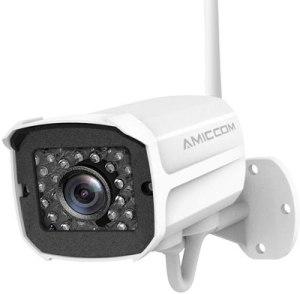 Cámara de seguridad al aire libre, cámara WiFi 1080P Amiccom