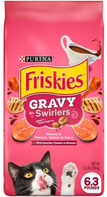 Purina Friskies Gravy Swirlers Adult Dry Cat Food