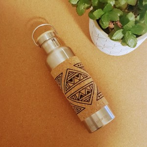 Metal Water Bottle with Cork