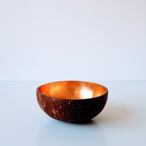 Coconut Bowl Coloured Gold