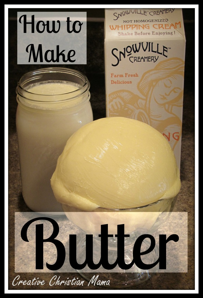 How To Make Homemade Butter  Eco Snippets