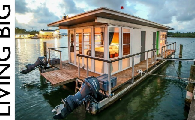 Life On The Water In A Tiny House Boat Eco Snippets