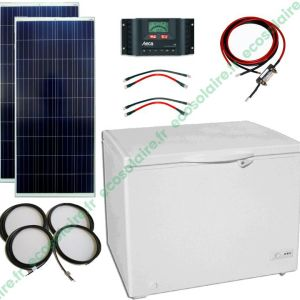 ECO-E15204A - Kit conservateur solaire 200L 12V sans batteries