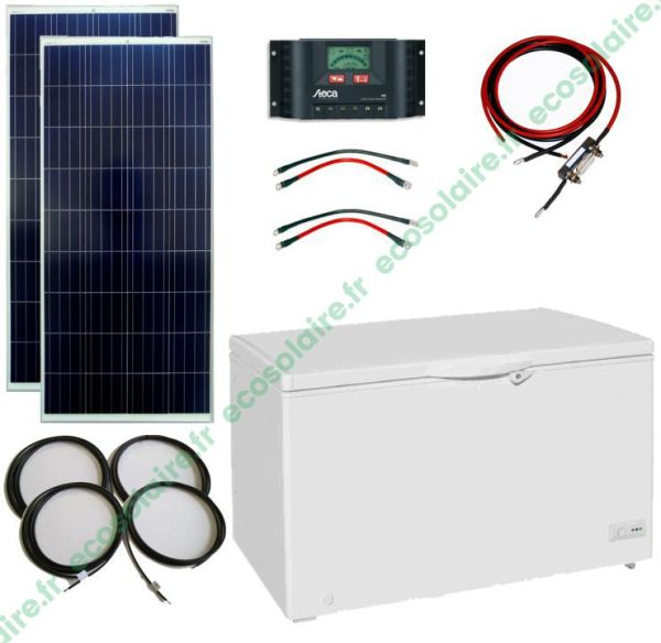 ECO-E15205A - Kit conservateur solaire 300L 12V sans batterie