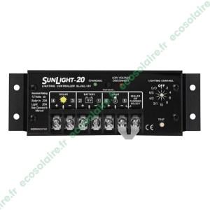Régulateur de charge SUNLIGHT SL-20L-12V