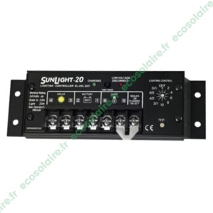 Régulateur de charge SUNLIGHT SL-20L-24V