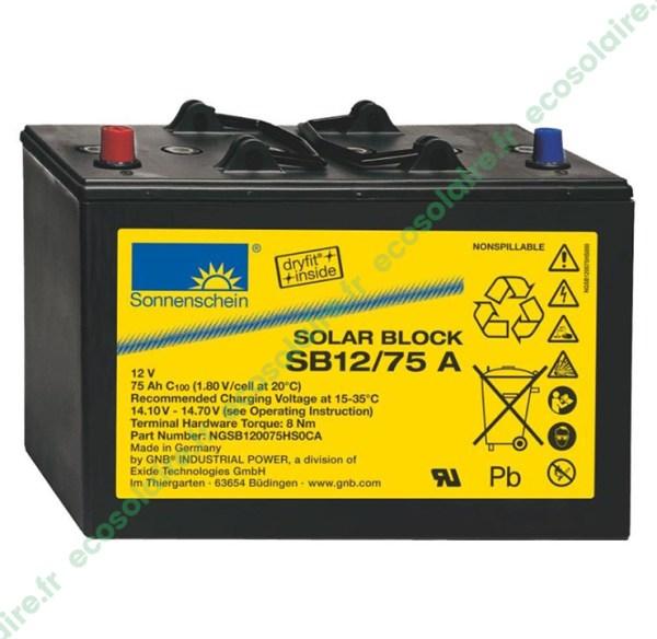 Batterie Sonnenschein Solar Block SB12/75