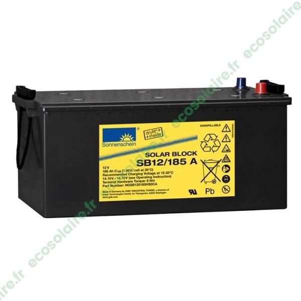 Batterie Sonnenschein Solar Block SB12/185