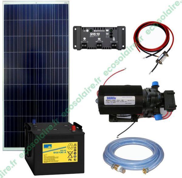 Kit pompe solaire de surface Shurflo Premium 125W 12V