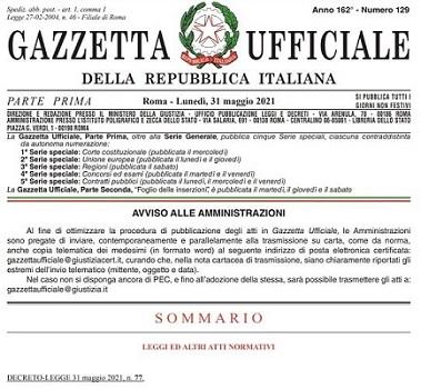 dl 77-2021 Decreto Semplificazioni
