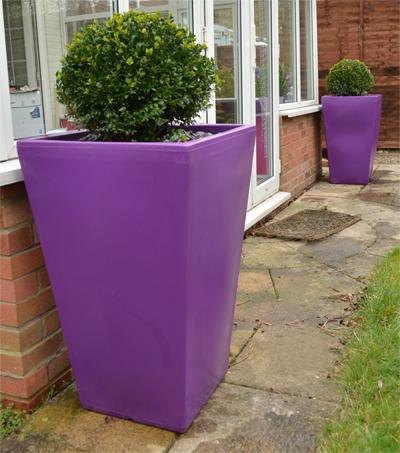 large cambridge garden purple planter