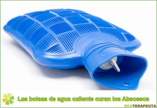 Bolsas de agua caliente para los abscesos