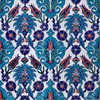 Iznik turkish tile F14-005 ~ Eco Tile Factory