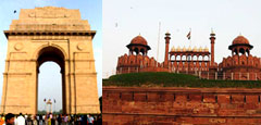india-gate and red-fort
