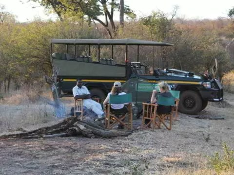 The Stanley & Livingstone Private Game Reserve Campfire in bush