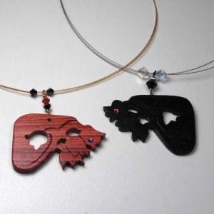 bijoux muguet en bois d'ébène et de rose