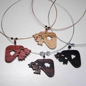 bijoux muguet en bois précieux par Blue Baobab